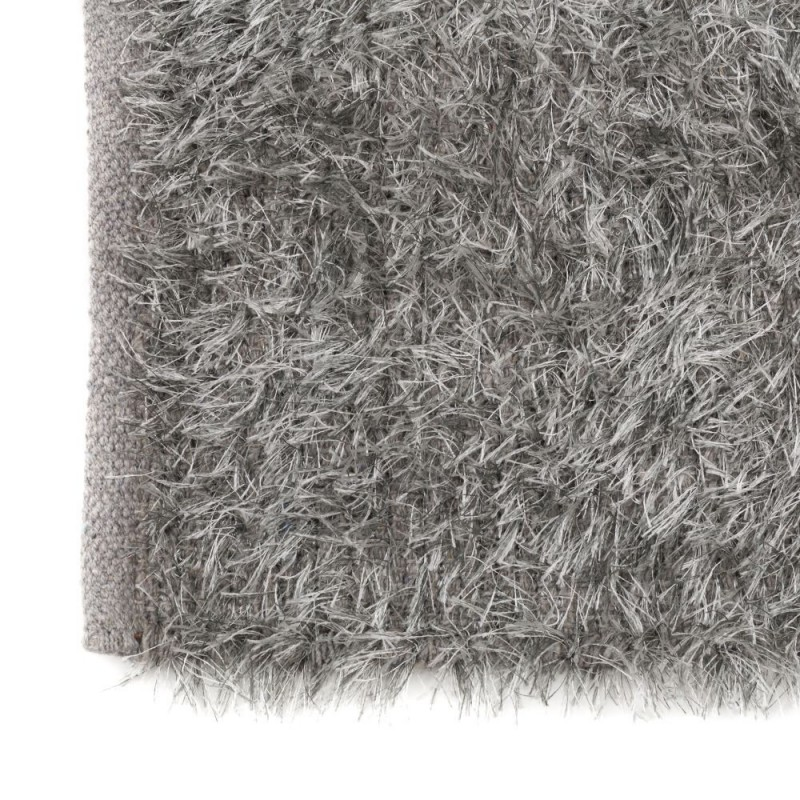 tapis poils longs gris 80 x 50 cm. Black Bedroom Furniture Sets. Home Design Ideas