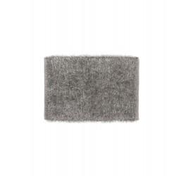 Tapis gris à poils longs 80 x 50 cm