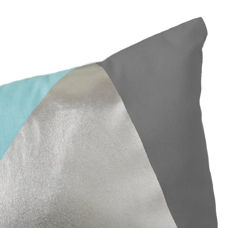 coussin graphique bleu ciel en coton 45 x 45 cm. Black Bedroom Furniture Sets. Home Design Ideas