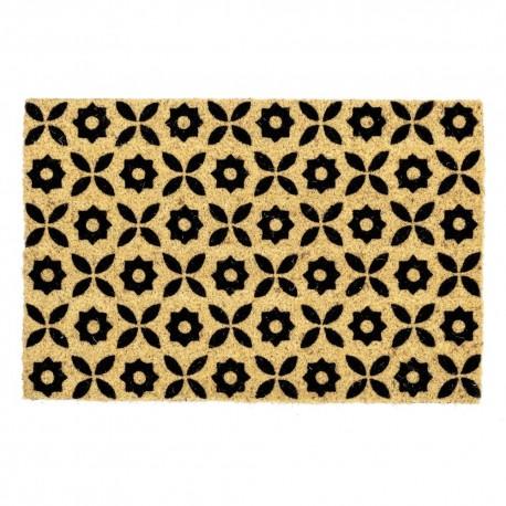 Paillasson FLOWERS en fibre coco 60 x 40 x 1,5 cm