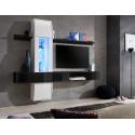Ensemble meuble TV COMET II noir et blanc