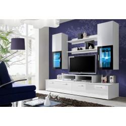 Ensemble meuble TV MINI blanc et noir