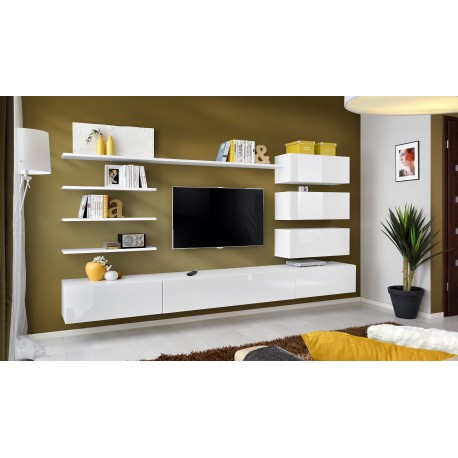 ensemble meuble tv italy blanc. Black Bedroom Furniture Sets. Home Design Ideas