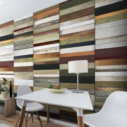 Papier peint RAINBOW - COLORED WOOD TONES