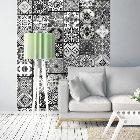 Papier peint ARABESQUE   BLACK & WHITE