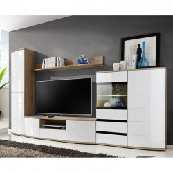ensemble complet de meuble tv et hifi style design. Black Bedroom Furniture Sets. Home Design Ideas
