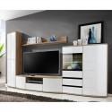 Ensemble meuble TV ONTARIO chêne et blanc