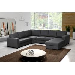 Canapé d'angle en U 6 places moderne et design OARA pas cher