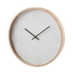 Horloge ronde style scandinave en MDF et cristal 33 x 33 x 4 cm