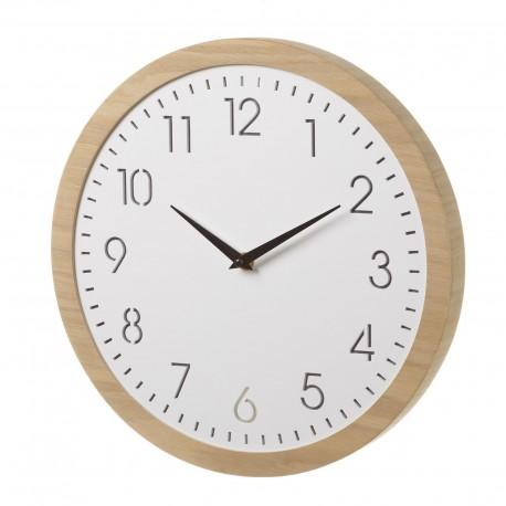 Horloge ronde avec led en MDF 33 x 33 cm
