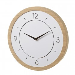 Horloge ronde avec LED blanc en MDF 33 x 33 cm