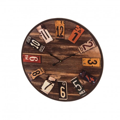 Horloge VINTAGE en MDF 60 x 60 x 4,5 cm