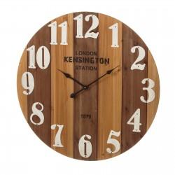 Horloge KENSINGTON en MDF et métal 80 x 80 x 4,5 cm