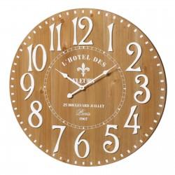 Horloge L'HOTEL DES FLEURS en MDF 60 x 60 x 4,5 cm