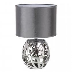 Lampe argent en céramique 23 x 23 x 35 cm