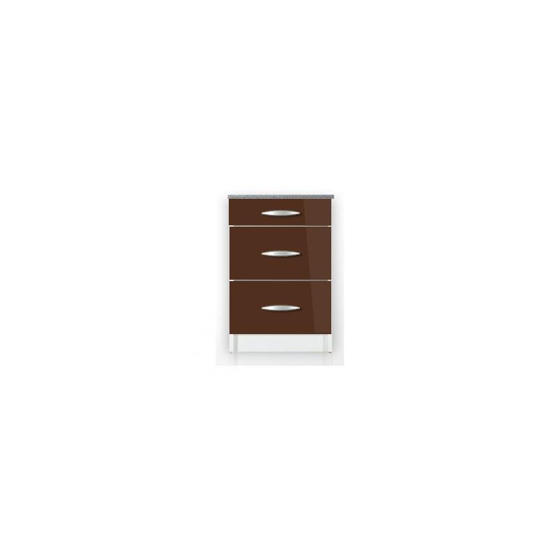 meuble de cuisine casserolier 80 cm oxane en laqu brillant avec 3 tiroirs. Black Bedroom Furniture Sets. Home Design Ideas