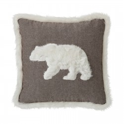 Coussin POLAR BEAR marron 45 x 45 cm