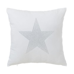 Coussin STAR blanc 45 x 45 cm