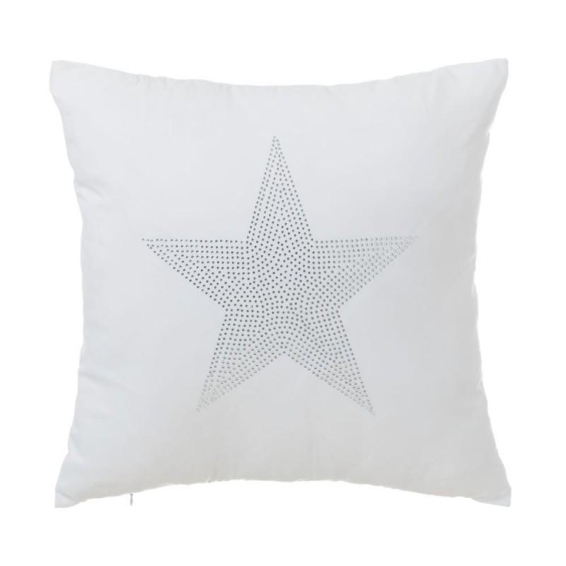coussin star blanc 45 x 45 cm. Black Bedroom Furniture Sets. Home Design Ideas
