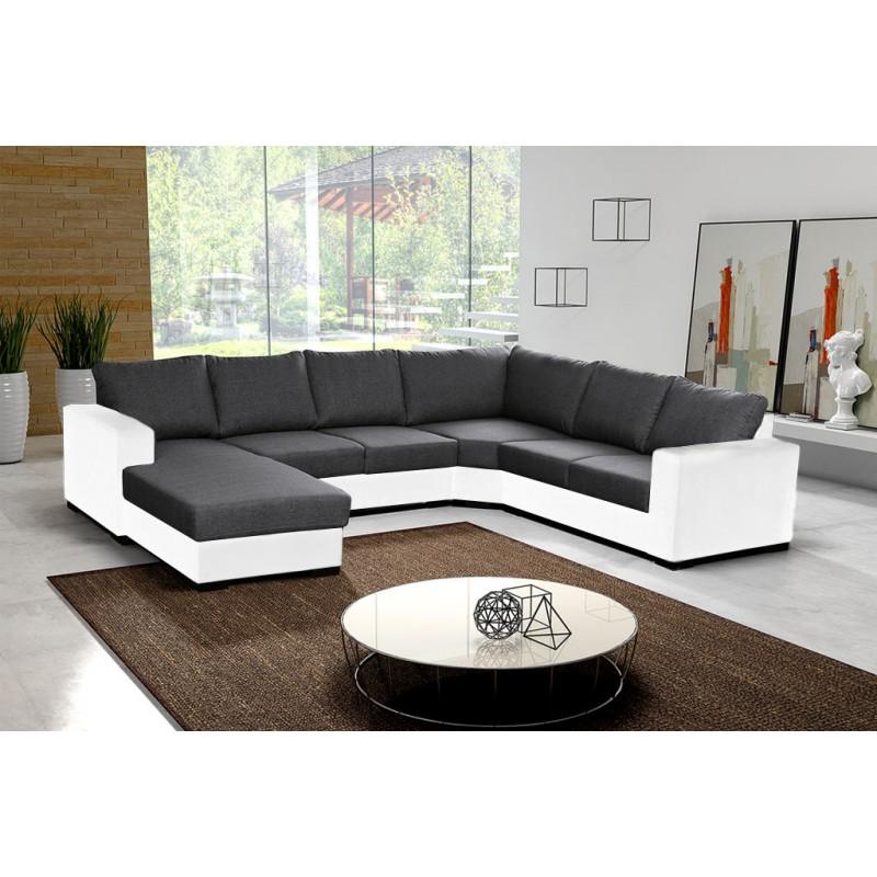 canap en u panoramique 6 7 places moderne et design. Black Bedroom Furniture Sets. Home Design Ideas