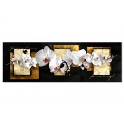 Tableau Composition peaufinée avec l'orchidée