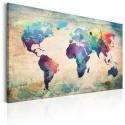 Tableau Carte en couleurs de l'arc-en-ciel