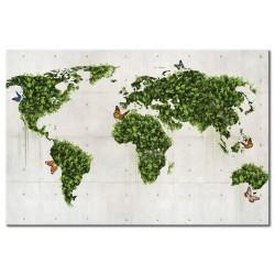 Tableau Le monde vert des papillons