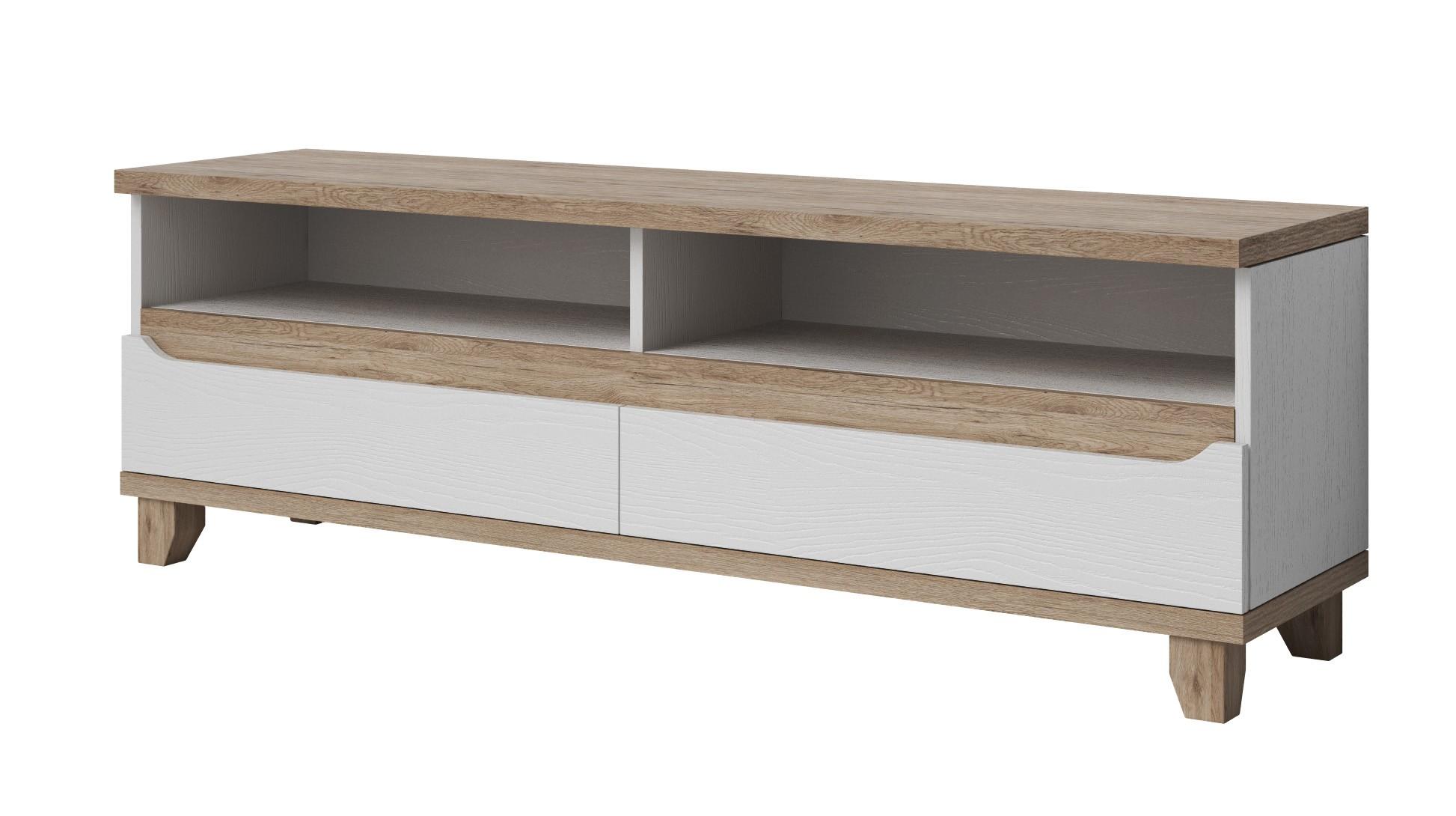Meuble de télévision design scandinave SCANDIC avec 3 tiroirs cosy