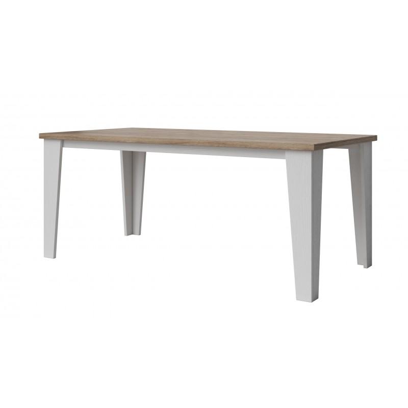 Table lier couleur blanc et bois style scandinave for Table bois style scandinave