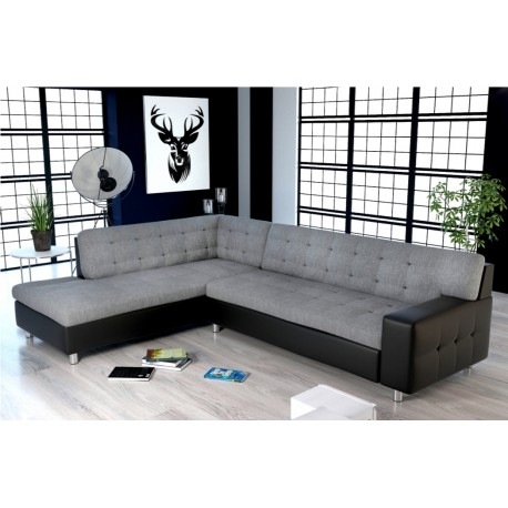 Canapé d'angle capitonné JAVA design