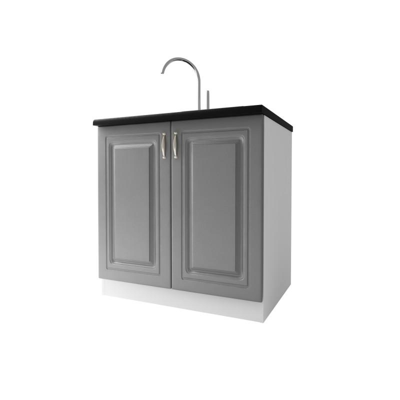 meuble de cuisine sous evier 2 portes 80 cm dina m lamin. Black Bedroom Furniture Sets. Home Design Ideas
