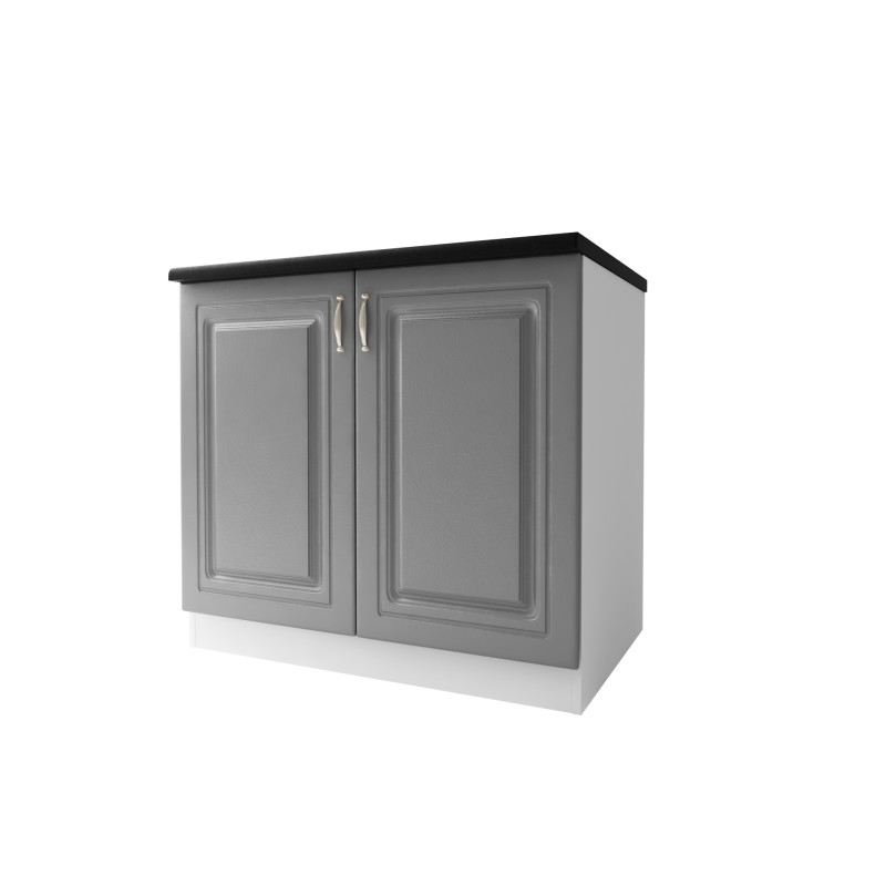 meuble bas cuisine dina 90 cm 2 portes moulures mdf. Black Bedroom Furniture Sets. Home Design Ideas