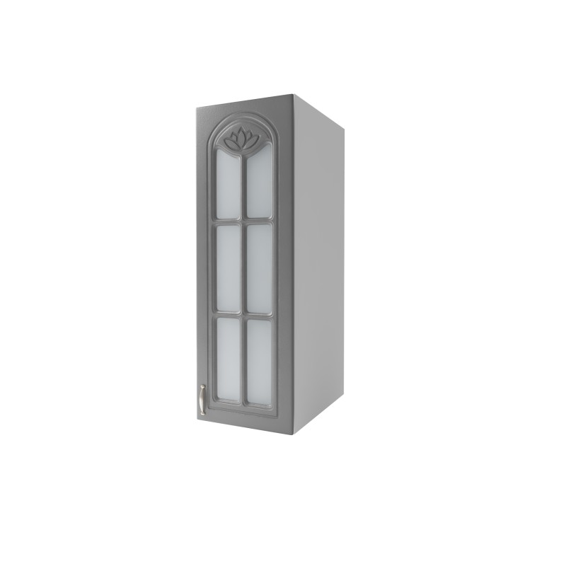 meuble de cuisine haut 1 porte vitrine 40 cm dina en. Black Bedroom Furniture Sets. Home Design Ideas