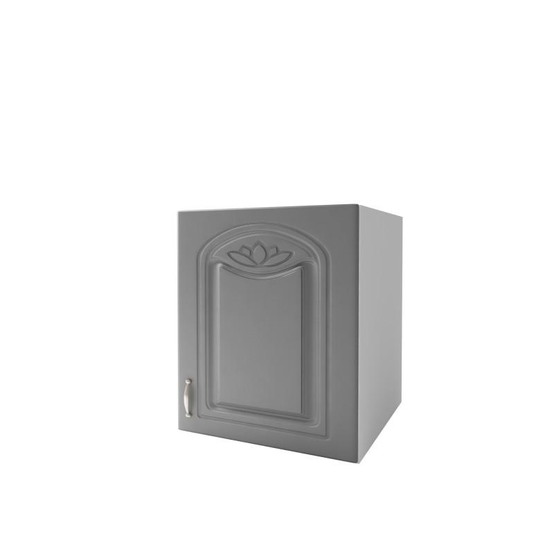 Meuble de cuisine haut 1 porte 60 cm dina m lamin avec 1 for Porte largeur 60