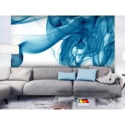 Papier peint Fumée bleue