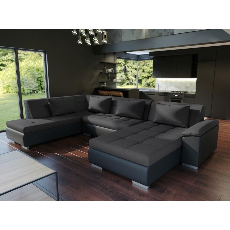 canap panoramique convertible lemon un grand canap design pas cher. Black Bedroom Furniture Sets. Home Design Ideas