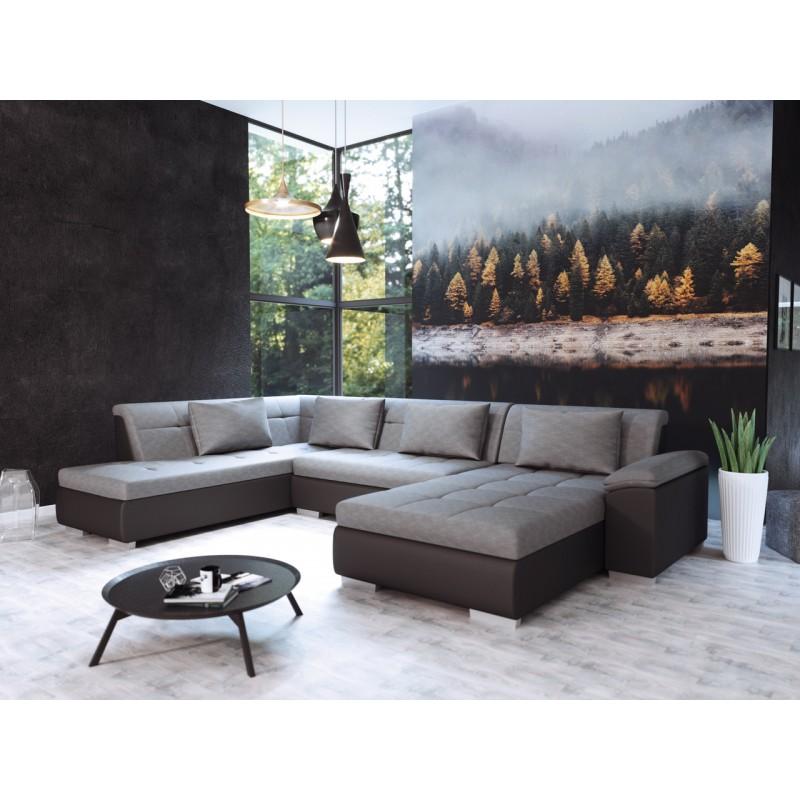 canap convertible en u lemon. Black Bedroom Furniture Sets. Home Design Ideas