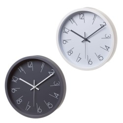 Lot de 2 horloges noire et blanche