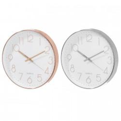 Lot de 2 horloges cuivrée et argentée