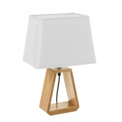 Lampe triangulaire en bois naturel 26 x 12,50 x 41 cm