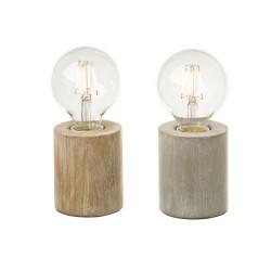 Lot de 2 lampes vintages avec ampoules apparentes 7,70 x 7,70 x 18 cm