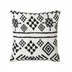 Coussin ethnique noir et blanc 50x50 cm