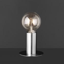 Lampe en métal avec amoule apparente 12 x 12 x 20 cm