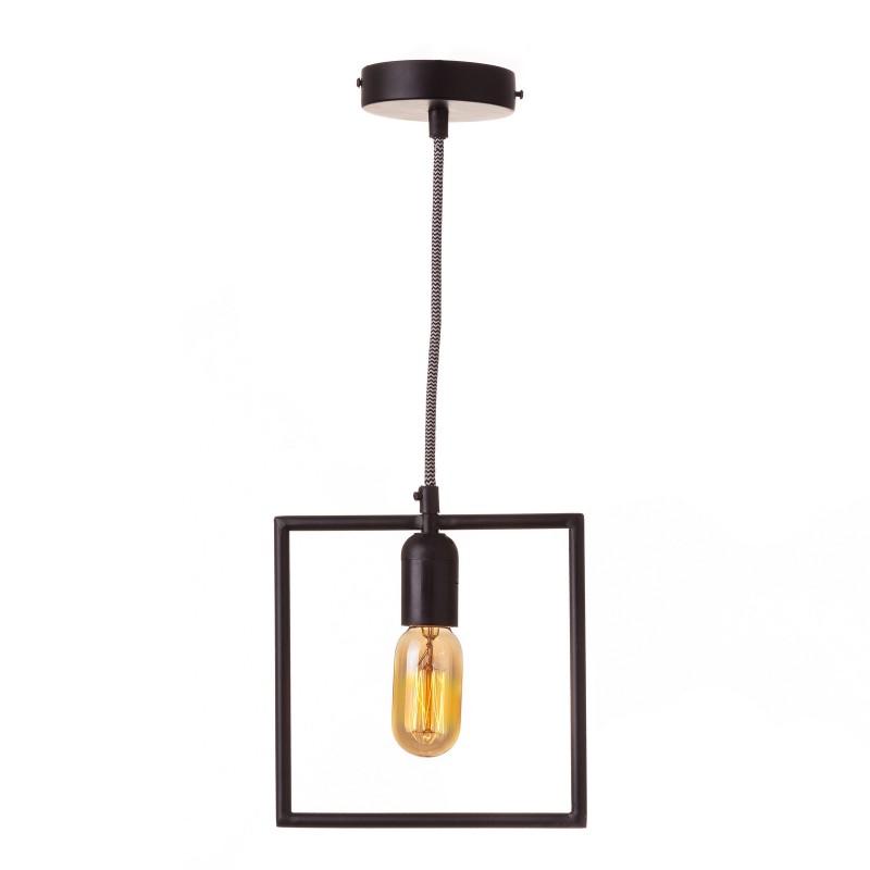 Suspension rectangulaire noire en fer 15 50 x 3 50 x 106 cm for Suspension en fer