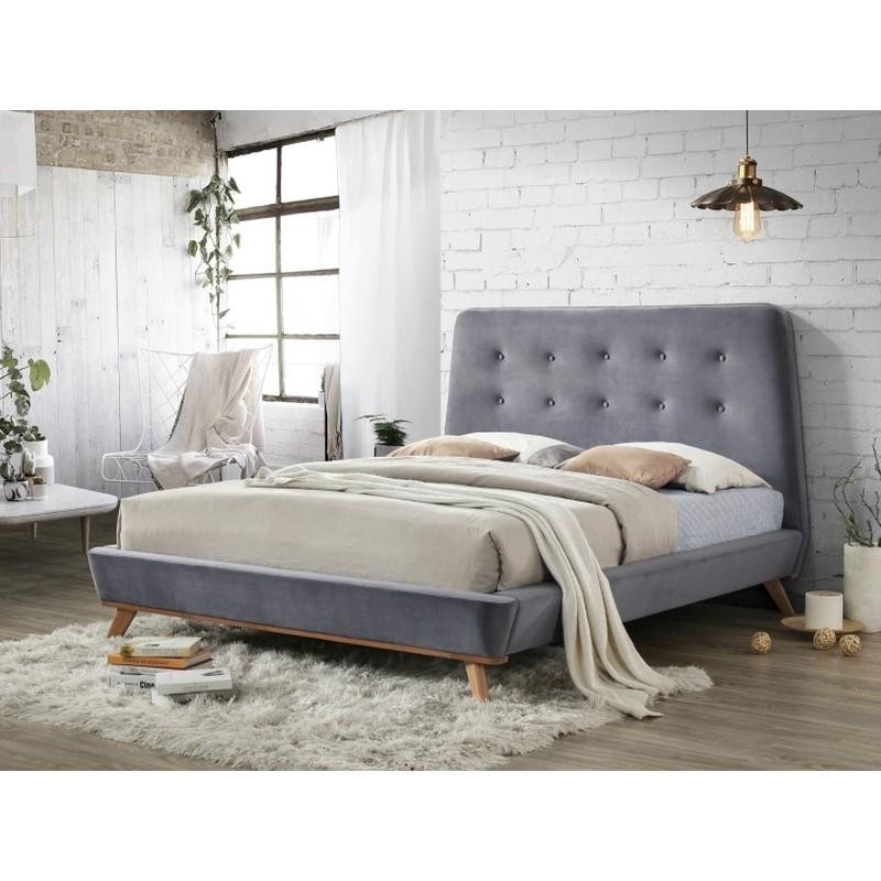 lit dona style scandinave 160 x 200 cm. Black Bedroom Furniture Sets. Home Design Ideas