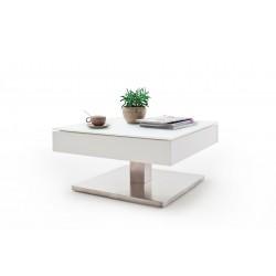 Table basse MARIO en MDF laqué blanc mat