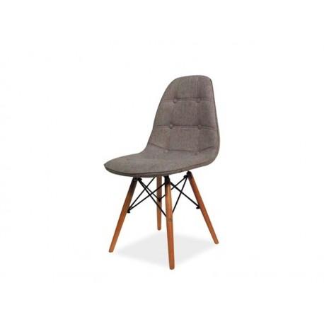 chaise scandinave dsw axel aspect boutonn simili cuir noir pied bois - Chaise Scandinave Cuir