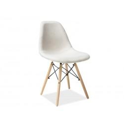 Chaise scandinave COCO tissu et bois de hêtre
