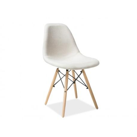 chaise scandinave coco tissu et bois de h tre. Black Bedroom Furniture Sets. Home Design Ideas
