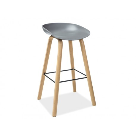 tabouret de bar style scandinave sting avec pied en bois. Black Bedroom Furniture Sets. Home Design Ideas